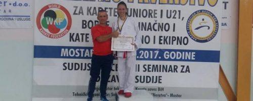 Sport: Ivana Galić iz Posušja izborila plasman na Svjetsko prvenstvo u karateu