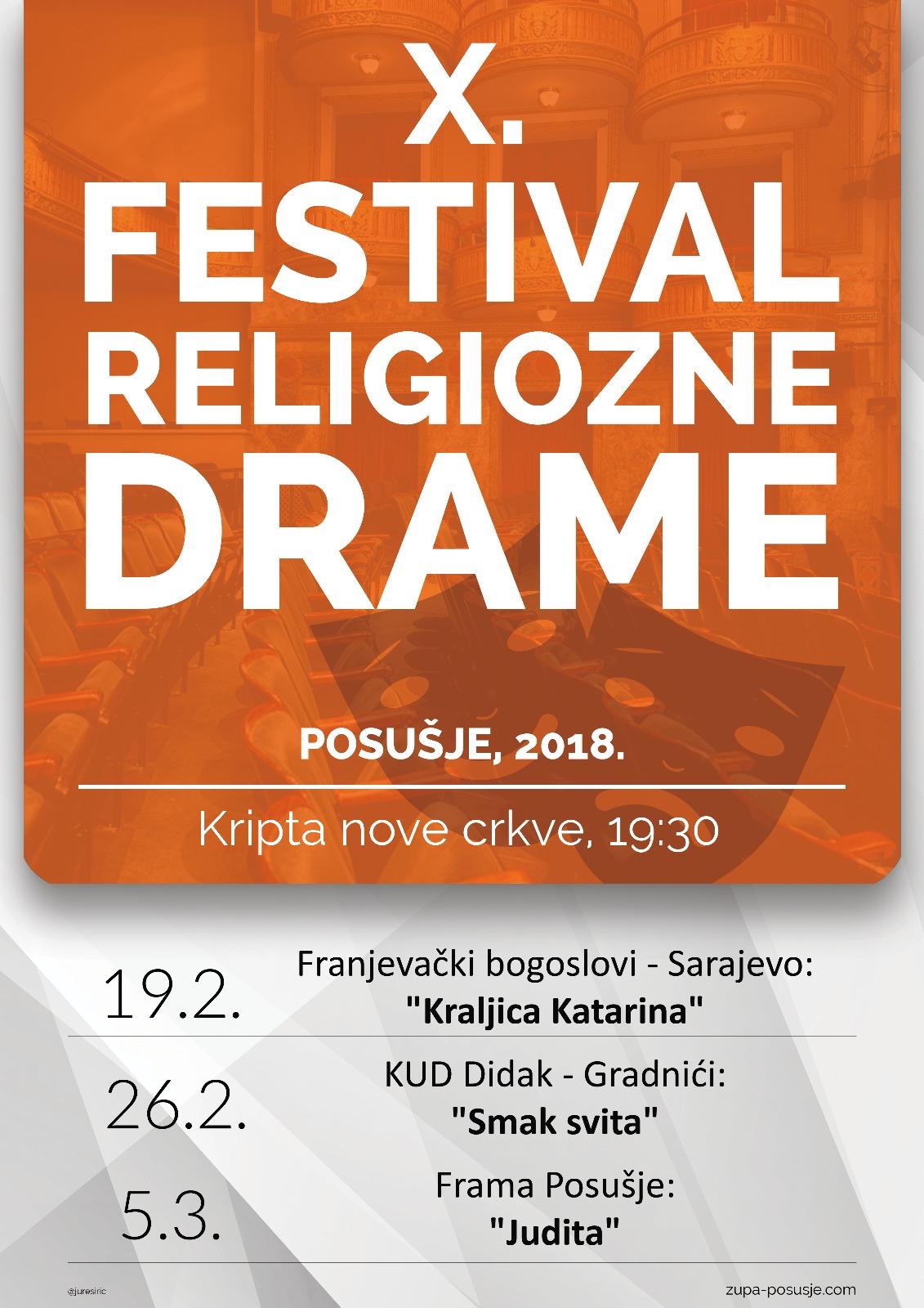 Najava: Deseti festival religiozne drame