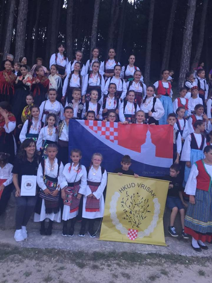 "Na 17. Međunarodnoj smotri folklora ""Stara škrinja je otvorena"" sudjelovalo je naše novoosnovano društvo HKUD Vrisak"