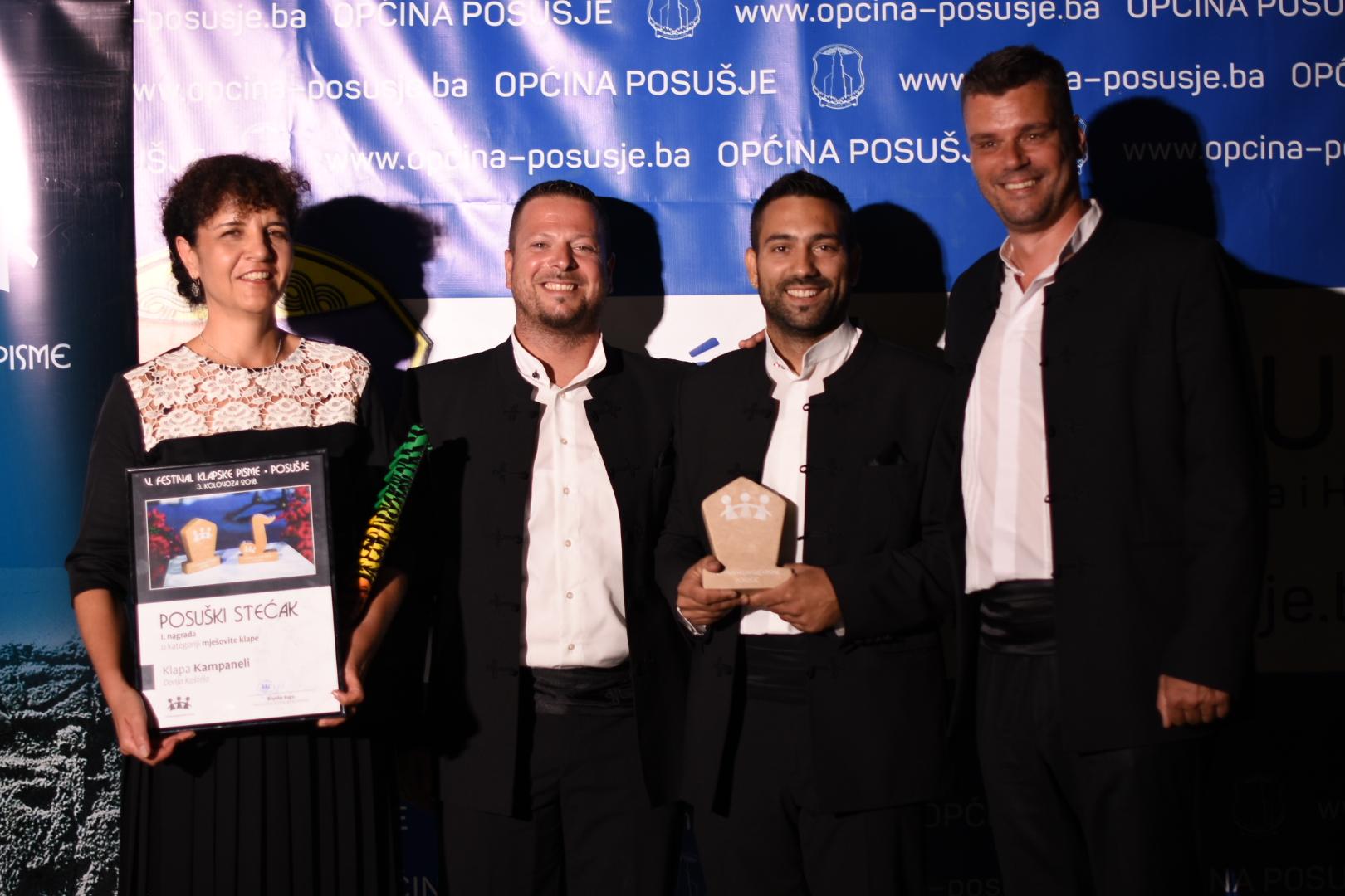 Kampanel prva nagrada žirija, Pašareta prva nagrada publike Objavljeno: 03. kolovoza 2018.