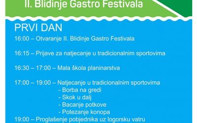 2nd BLIDINJE GASTRO FESTIVAL – THE PERFECT WEEKEND FOR THE WHOLE FAMILY